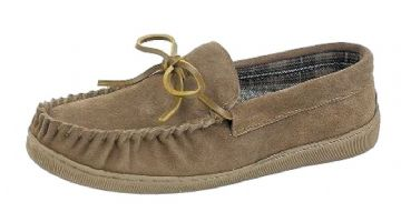 Men's Moccasin with Rubber Sole SAND